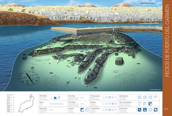Mapa Pecios Puerto del Carmen